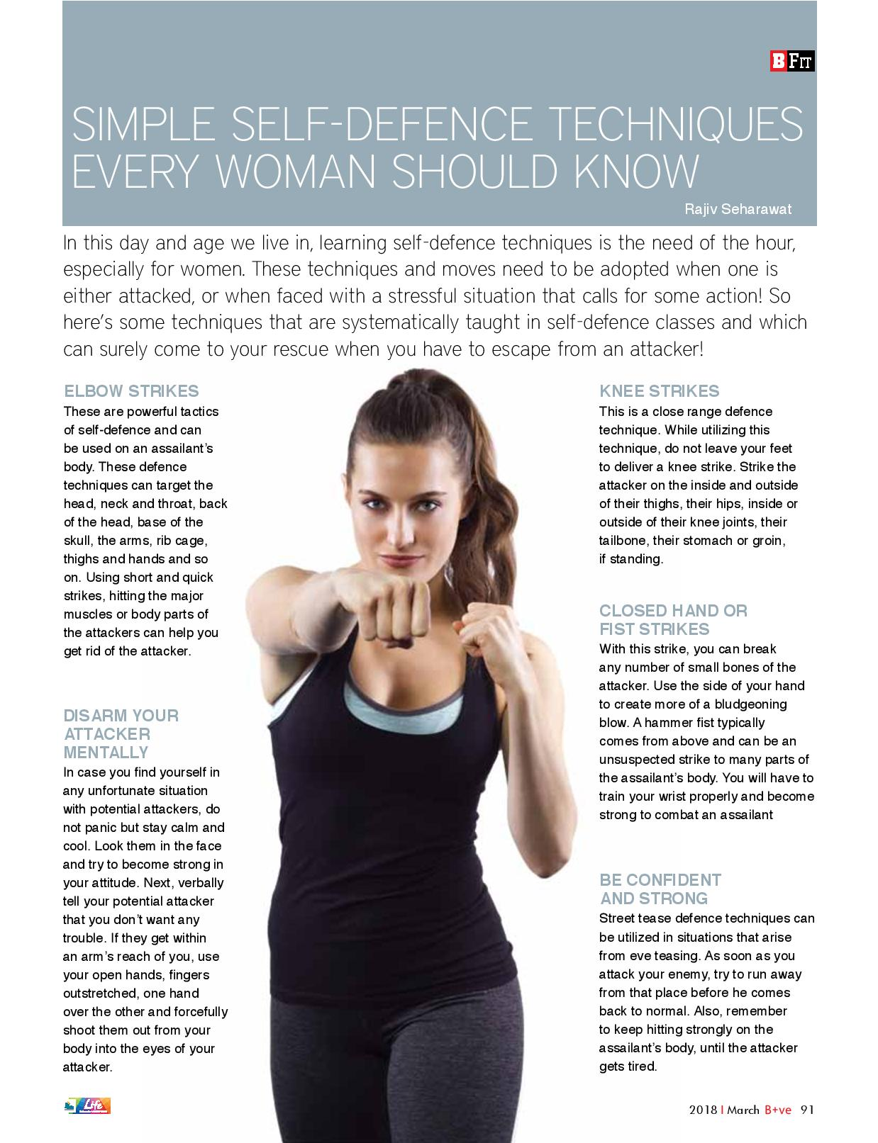 SIMPLE SELF DEFENCE TECHNIQUES EVERY WOMAN SHOULD KNOW